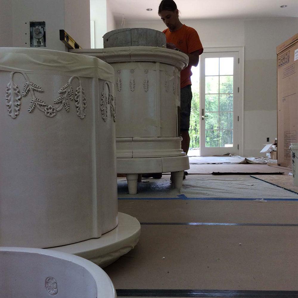 Stufe Collizzolli diversi modelli stufe a ole in ceramica