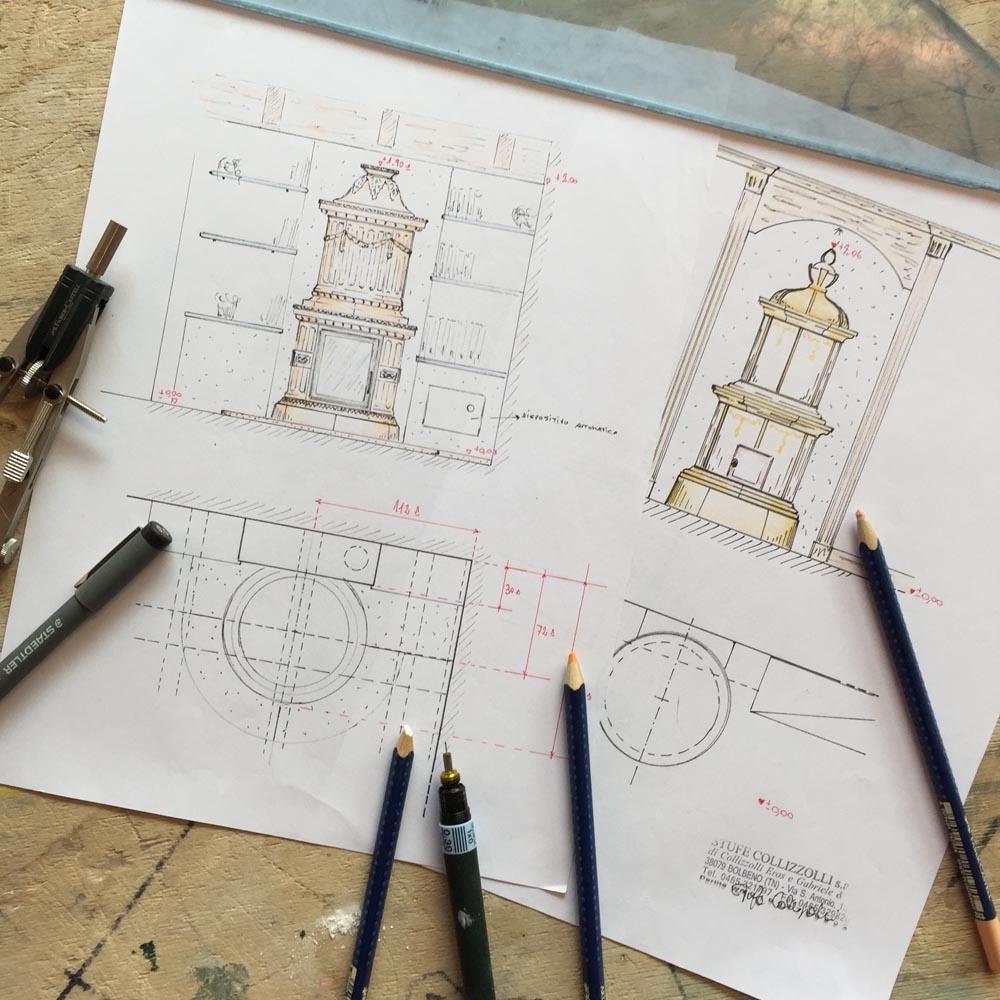 Stufe in ceramica fatte a mano, Stufe Collizzolli stufe a legna stufe a pellet e stufe elettriche fatte a mano