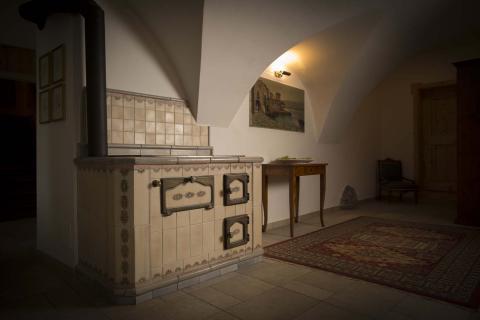 cucina a legna, forno pizza Stufe Collizzolli, Stufe in ceramica fatte a mano