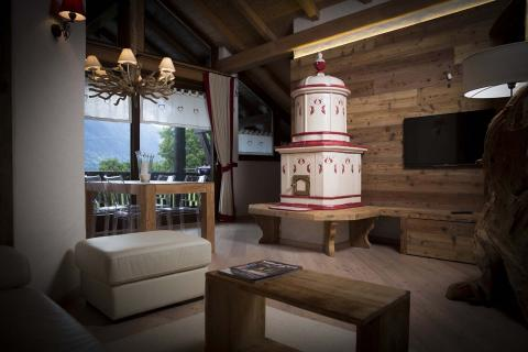 Stufe Collizzolli modello Gemma stufe a ole stufa in ceramica elettrica e a legna