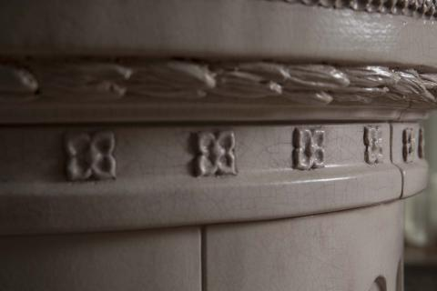 Stufe Collizzolli modello Regina stufa elettrica e a legna stufe in ceramica fatte a mano