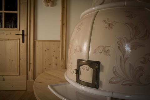 Stufe Collizzolli in ceramica stufe a olle stufa modello Campana fatta a mano
