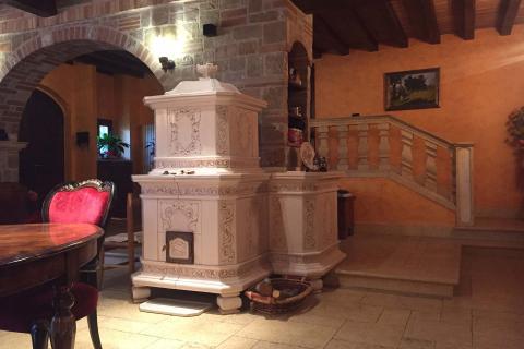 Stufe Collizzolli stufa in ceramica modello Stile stufe a legna e elettriche